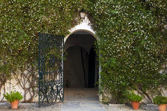 Charming entrance to Spanish house Royalty Free Stock Photos