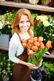 Charming florist Royalty Free Stock Images