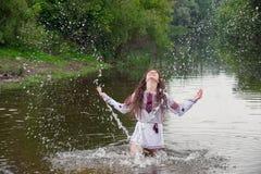 Charming folk mermaid Stock Photo