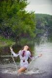 Charming folk mermaid Stock Photos