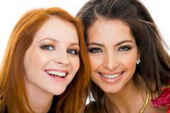 Charming friends royalty free stock photography