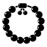 Charming gemstone bracelet icon , simple style vector illustration