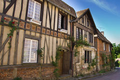 Charming Gerberoy. Houses on the street of the historic village of roses (Gerberoy, France Royalty Free Stock Photos