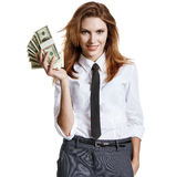 Charming gestures with cash Royalty Free Stock Photography