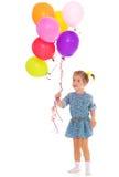 Charming girl with balloons. Stock Photos