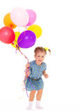 Charming girl with balloons. Stock Photo