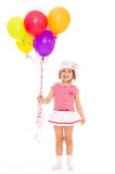 Charming girl with balloons. Royalty Free Stock Images