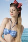 Charming girl in bikini Stock Images