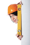 Charming girl the builder Royalty Free Stock Photography
