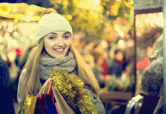 Charming girl in evening outdoors Royalty Free Stock Photo