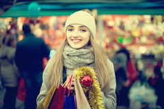 Charming girl in evening outdoors Royalty Free Stock Image