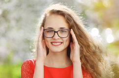 Charming girl in glasses Royalty Free Stock Image