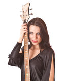 Charming girl with guitar Royalty Free Stock Photos