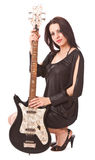 Charming girl with guitar Stock Image