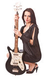 Charming girl with guitar Royalty Free Stock Photography