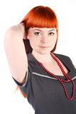 Charming girl with long red hair Stock Image
