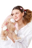 Charming girl in a pajamas Stock Image