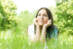Charming girl relaxing Royalty Free Stock Photography