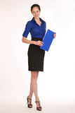 Charming girl secretary. Stock Images