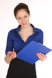 Charming girl secretary. Royalty Free Stock Image