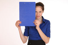 Charming girl secretary. Royalty Free Stock Photos