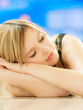 Charming girl sleeps Royalty Free Stock Photography