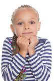 Charming girl with a soulful gaze. Charming girl six years with a soulful gaze Stock Image