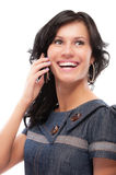 Charming girl speaks by phone Stock Photos