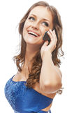 Charming girl speaks by phone Stock Image