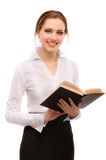 Charming girl-student with book Stock Photos