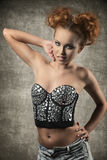 Charming girl with trendy corset Royalty Free Stock Images