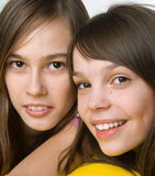 Charming girls. Portrait of two charming girls Royalty Free Stock Photography