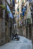 Gothic Quarter streets in Barcelona Royalty Free Stock Photography