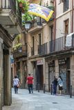 Gothic Quarter streets in Barcelona Royalty Free Stock Photos