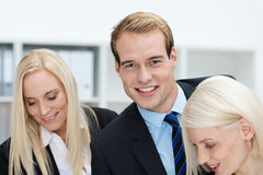 Charming handsome young businessman Royalty Free Stock Images