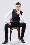 Charming handsome. Royalty Free Stock Photo