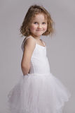 Charming happy babe in ballet tutu Royalty Free Stock Photo