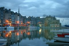 Charming honfleur Stock Photo