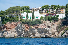 Charming hotels and apartment buildings from the sea Royalty Free Stock Photos