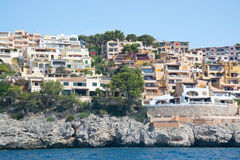 Charming hotels and apartment buildings from the sea Stock Photography