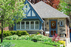Charming house stock photo