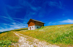 Charming house in the Alps Royalty Free Stock Photos