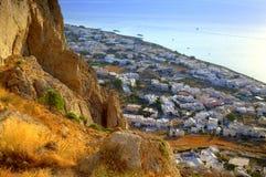 Charming Kamari view from above,Santorini Royalty Free Stock Photography