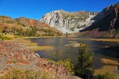Charming lake Ellery in park Yosemite. Royalty Free Stock Photo