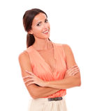 Charming latin female looking at you Royalty Free Stock Image