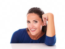 Charming latin looking at you while smiling Stock Photo