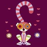 Charming lemur in love Stock Image