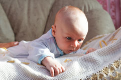 A charming little baby boy Royalty Free Stock Images