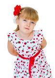 Charming little blonde look. Stock Photography