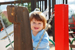 The charming little boy laughs Royalty Free Stock Photos